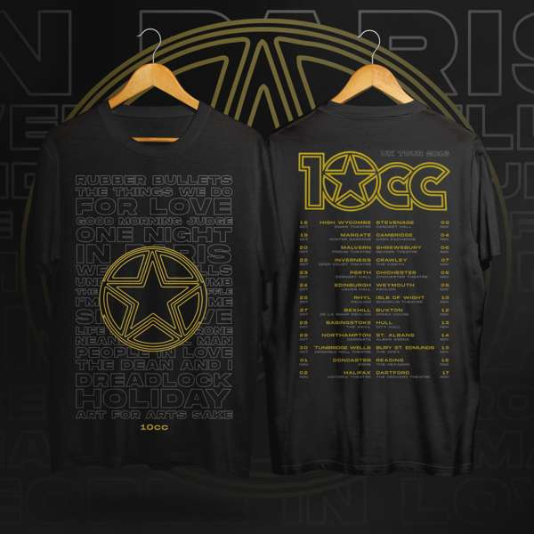 2018 Tour T-shirt (Black) - 10CC