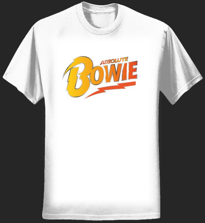 Men's T Shirt (white) Logo - Absolute Bowie