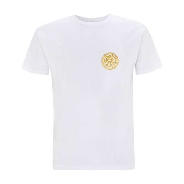 Ady Gold/White Logo T-shirt - Ady Suleiman