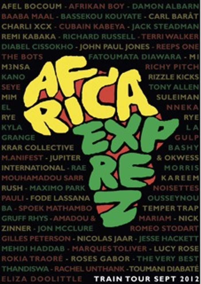 Africa Express 2012 Train Tour Poster - Africa Express Shop