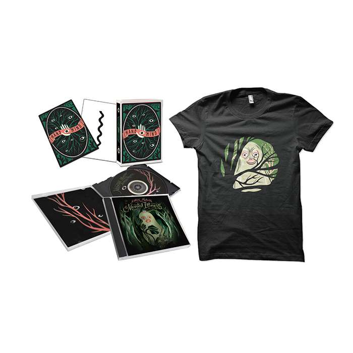 Aimee Mann Mental Illness CD + T-Shirt + Limited Edition Psychological Art therapy Cards Bundle - Aimee Mann