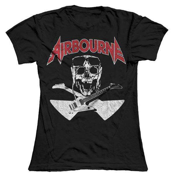 Airbourne - Black Skull Ladies T-Shirt - Airbourne