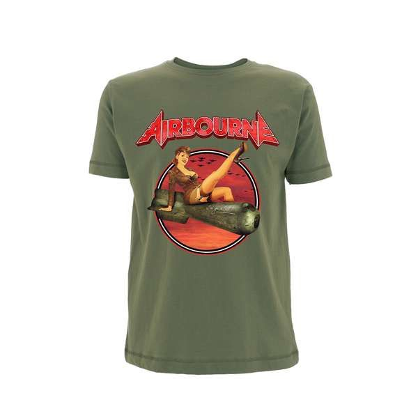 8df836607 Airbourne Bomb Girl – Olive T-Shirt