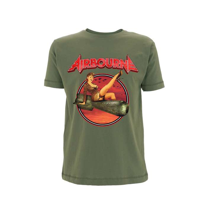 Airbourne Bomb Girl – Olive T-Shirt - Airbourne