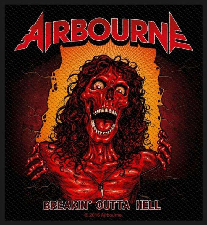 Airbourne - Breakin' Outta Hell - Back Patch - Airbourne