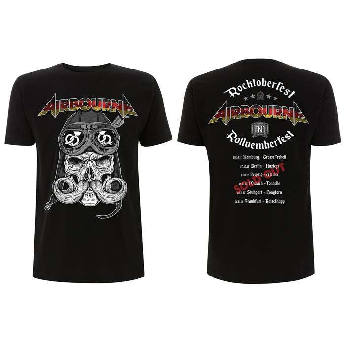 Airbourne - German Tour Skull – T-Shirt - Airbourne
