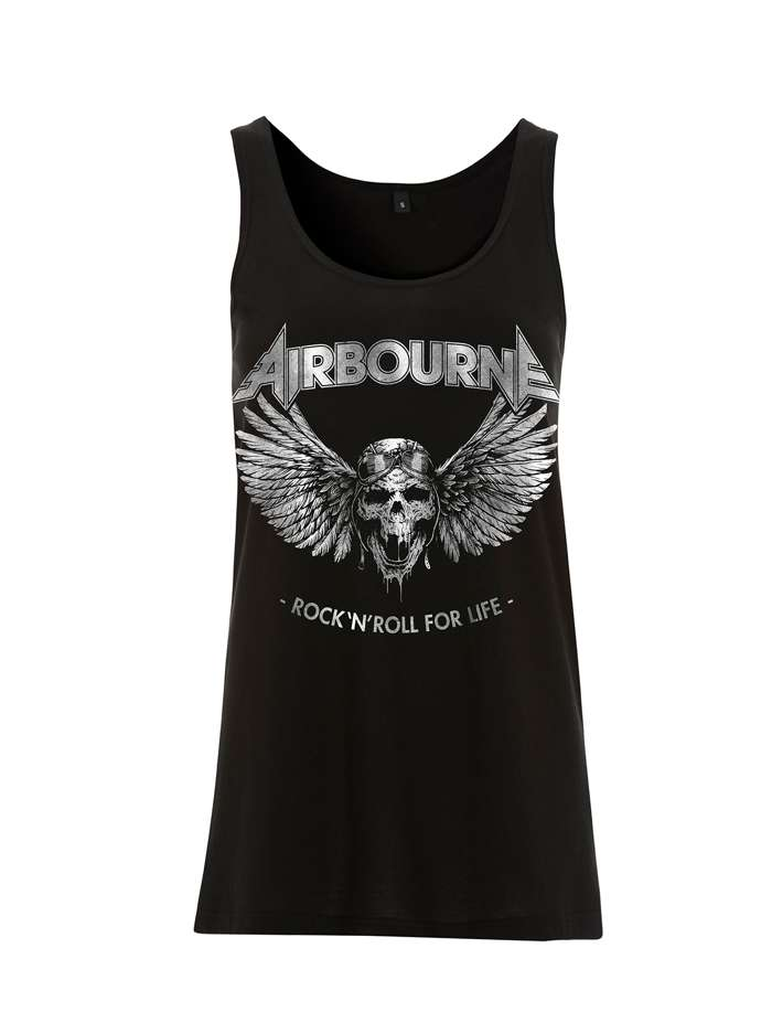 Airbourne - Rock N Roll For Life – Girls Vest - Airbourne
