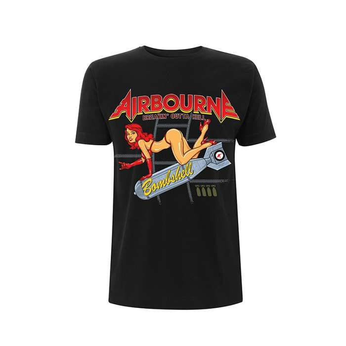 Bombshell - Black Tee - Airbourne