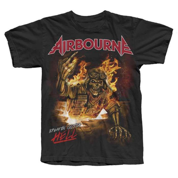 Breakin' Outta Hell Finger Tour Tee - Airbourne
