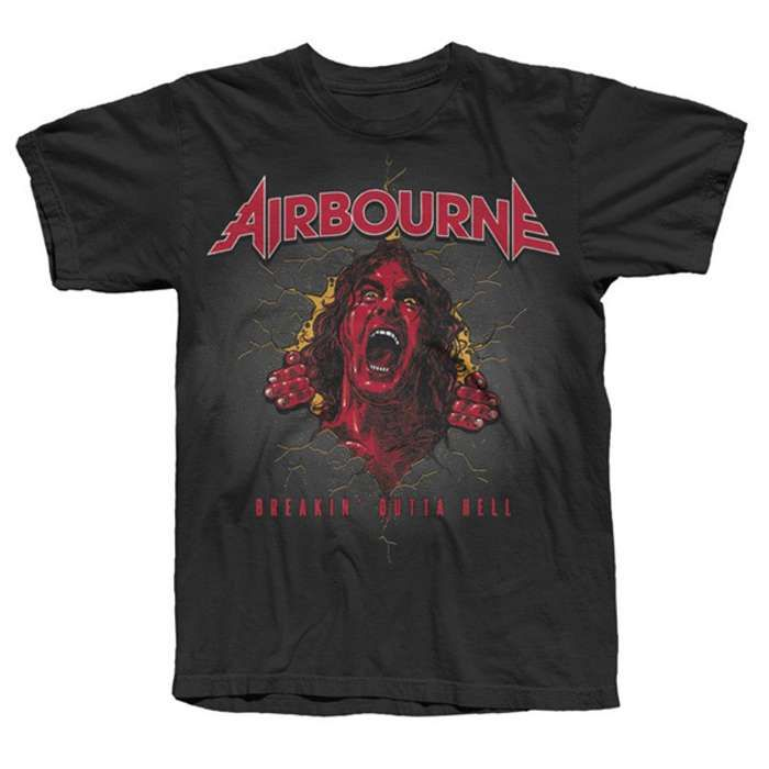 Breakin' Outta Hell Scorched Earth Tour Tee - Airbourne