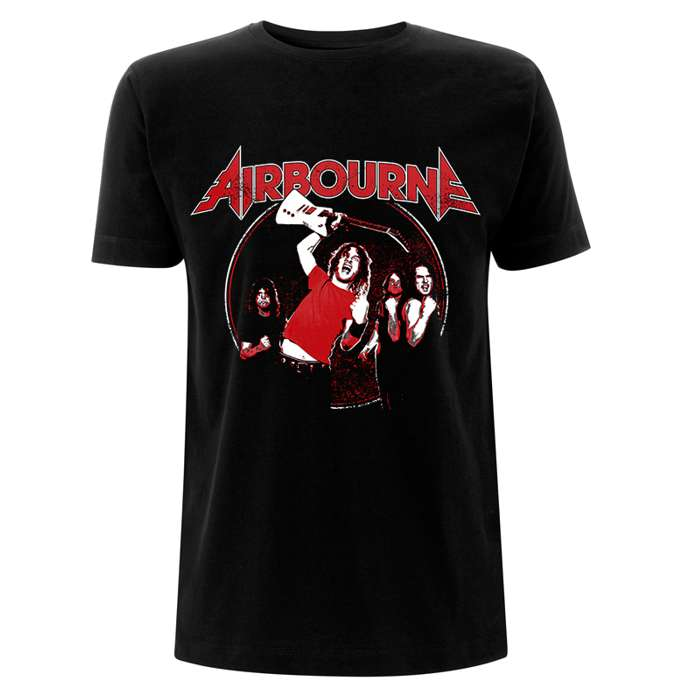 Fist Pumping - Black Tee - Airbourne