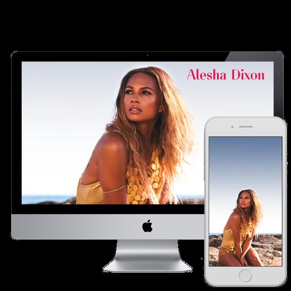 Desktop & Mobile Wallpapers - Alesha Dixon