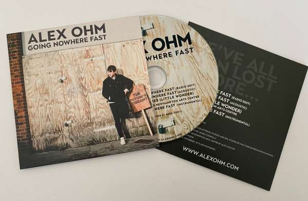 Going nowhere fast, signed, CD single - Alex Ohm