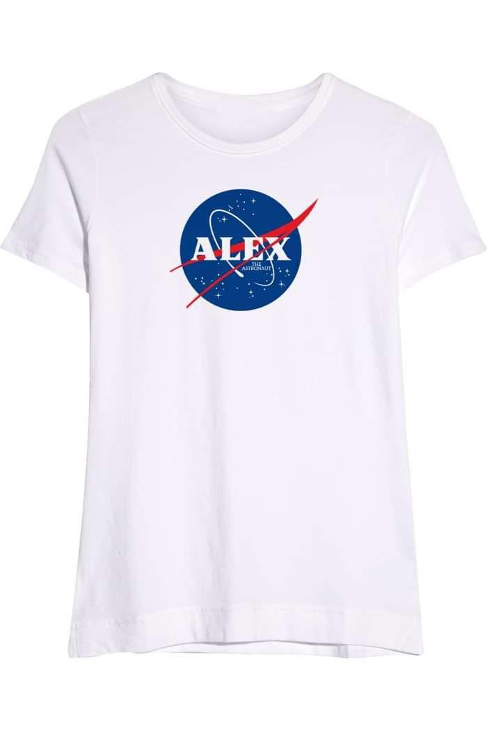 ALEX White T-Shirt - Alex The Astronaut