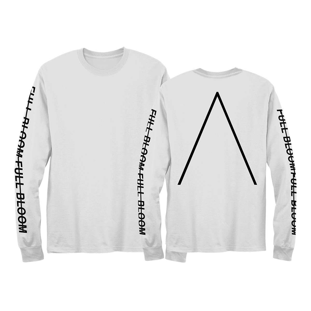 Full Bloom Long-Sleeved T-Shirt [White] - Alpines