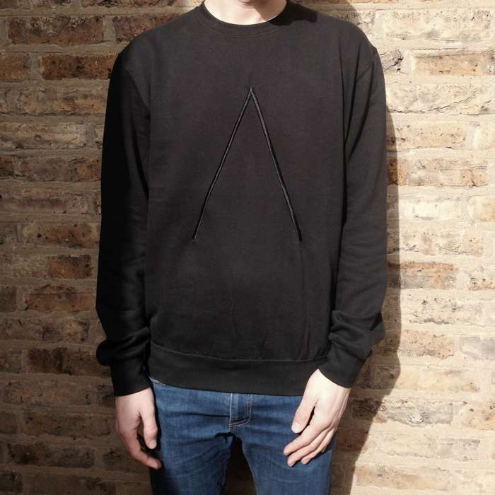 'Λ' Sweatshirt [Black With Black Embroidered Logo] - Alpines
