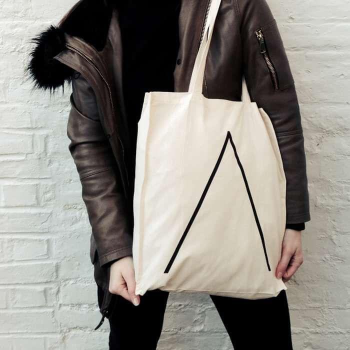 'Λ' Tote Bag [Natural] - Alpines