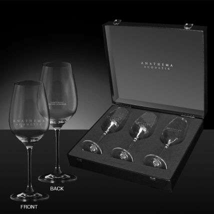 Anathema - 'Acoustic Tour' Set of 3 Wine Glasses - Anathema