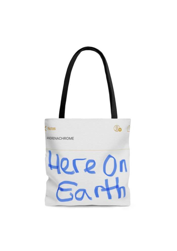 Here on Earth Tote bag - Andrenachrome