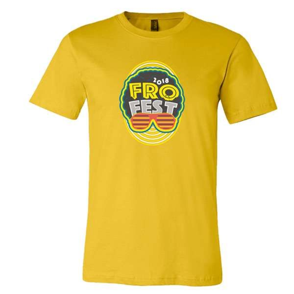 Fro Fest 2018 T-shirt Yellow - Andy Frasco