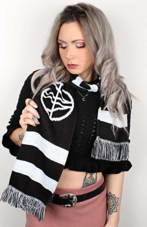 AREA 11 EMBLEM Scarf - Black, White and Grey - Area 11