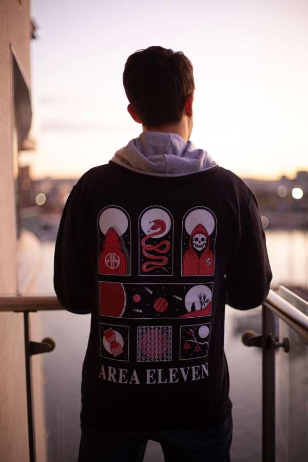 AREA ELEVEN #SINGLARITY Hoodie - Lunar Navy - Area 11