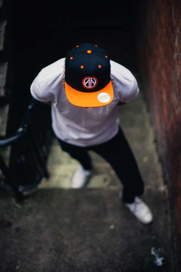 EMBLEM SNAPBACK - 'Good Time' Orange / Raven Black - Area 11