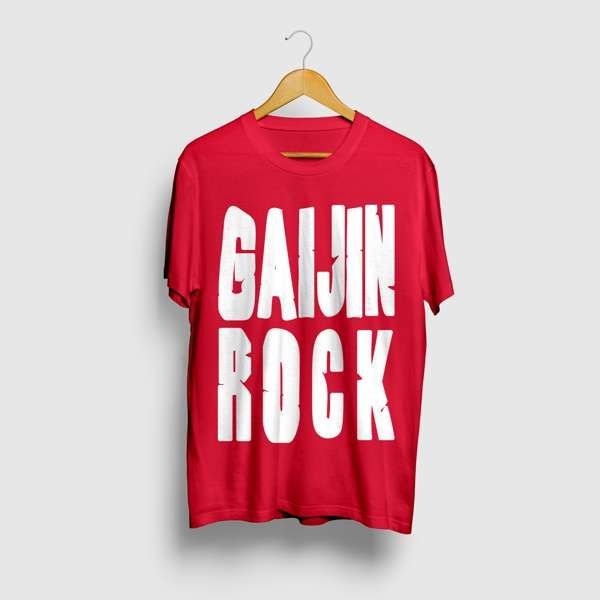 GAIJIN ROCK T-shirt - Red - Area 11