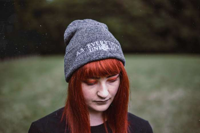 ROSE LOGO BEANIE - GREY MARL - As Everything Unfolds