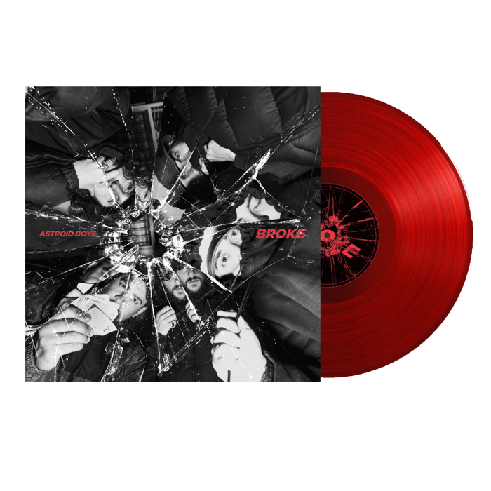 "BROKE - Clear Red 12"" Vinyl - Astroid Boys"