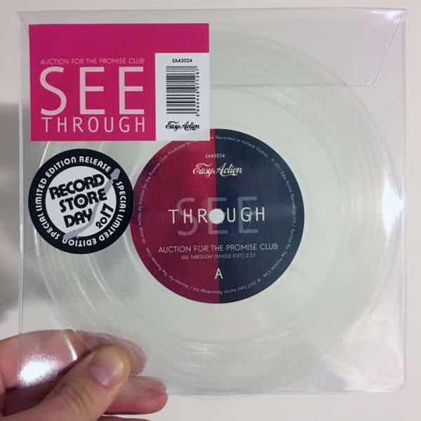 "'See Through' Limited Edition 7"" Clear Vinyl, Single Edit - Auction for the Promise Club"