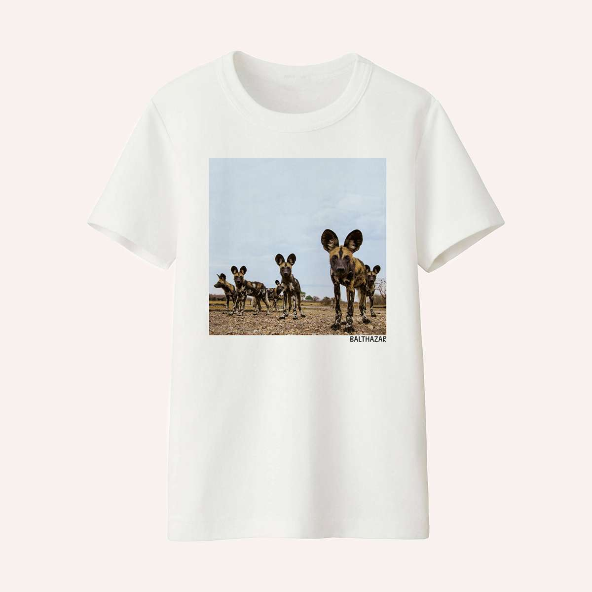 T-Shirt (White with Print) - Balthazar Merch