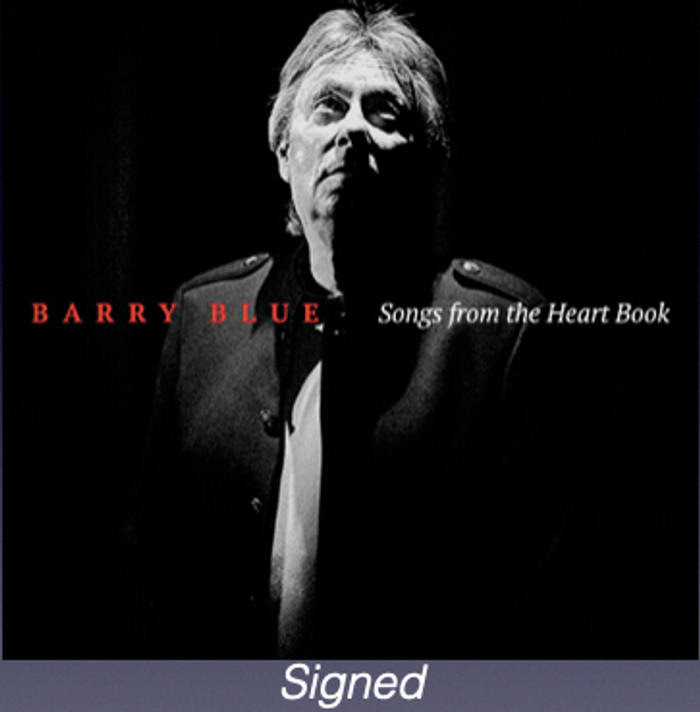 Signed Songs From The Heart Book CD - Barry Blue: Chapter & Verse - 50 Years On... Barry Blue