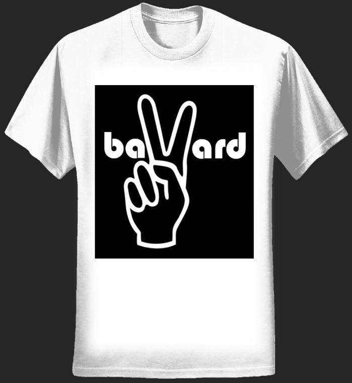 Men's White T-Shirt - Peace - Bavard