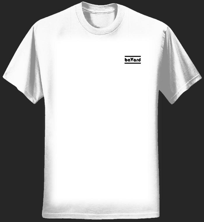 Men's White T-Shirt - small logo - Bavard