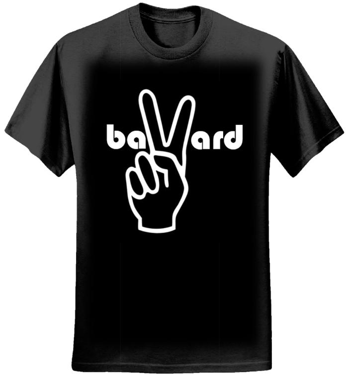 Women's Black T-Shirt - Peace - Bavard