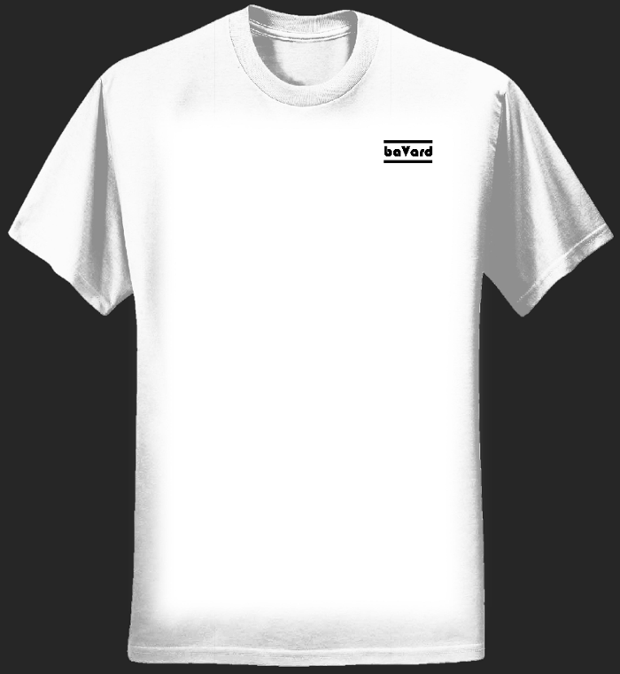 Women's White T-Shirt - small logo - Bavard