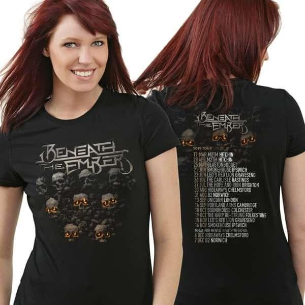 Beneath The Embers 2019 UK Tour Female T Shirt - Beneath The Embers