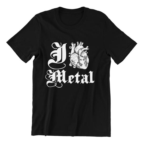 Embers Apparel 'I Love Metal Heart' Tee £12 - Beneath The Embers