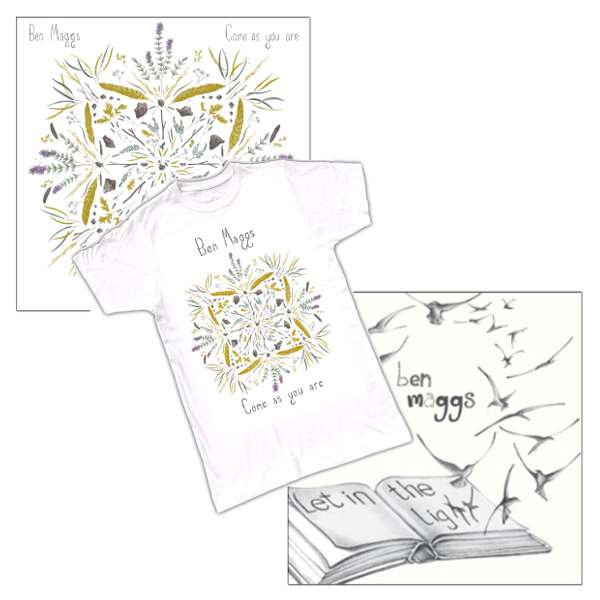 CD & 1 T-shirt Bundle Offer - 'Come as you are'; 'Let in the Light' & 1 T-shirt - Ben Maggs