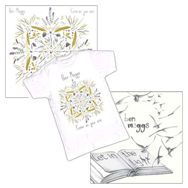 CD & 1 T-shirt Bundle Offer - 'Come as you are'; 'Let in the Light' SIGNED & 1 T-shirt - Ben Maggs
