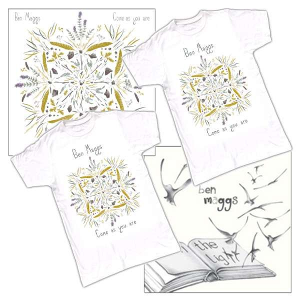 CD & 2 T-shirts Bundle Offer - 'Come as you are'; 'Let in the Light' SIGNED & 2 T-shirts - Ben Maggs