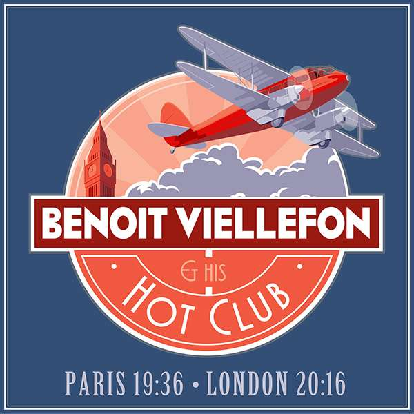 "Benoit Viellefon Hot Club ""Paris19:36 - London20:16"" (CD limited edition) - Benoit Viellefon"