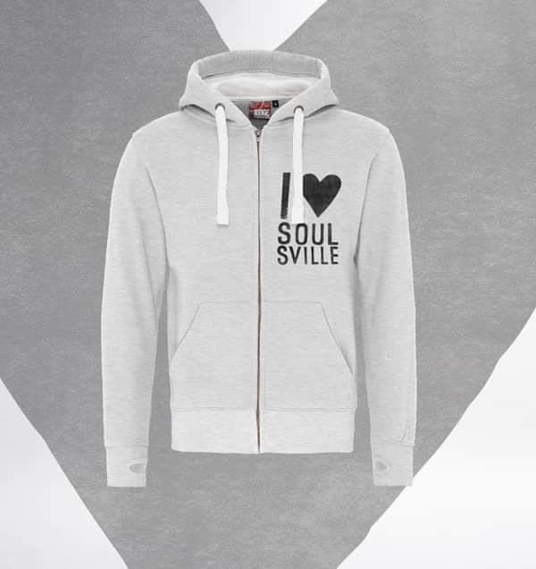Soulsville Zip Hoodie - Grey - Beverley Knight