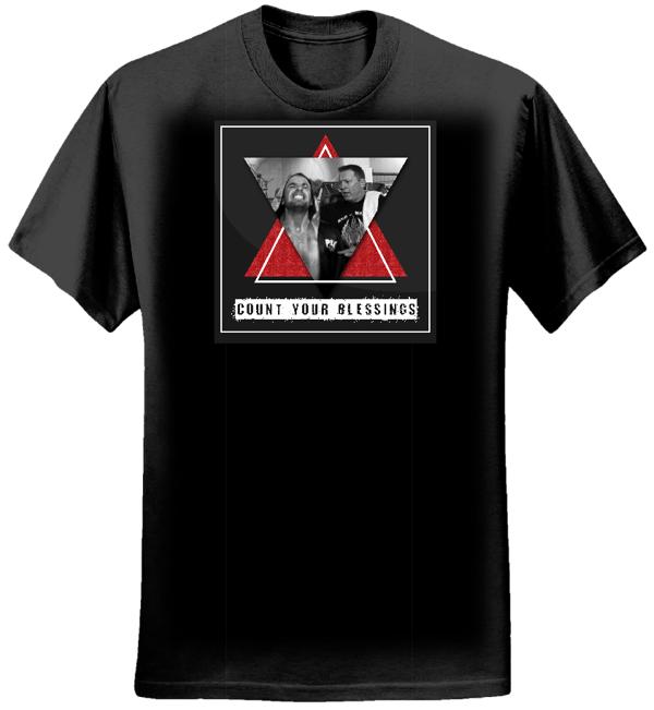 Count Your Blessings t-shirt black - mens - BibleCode Sundays