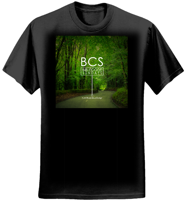 New Hazardous Design album cover t-shirt black - mens - BibleCode Sundays