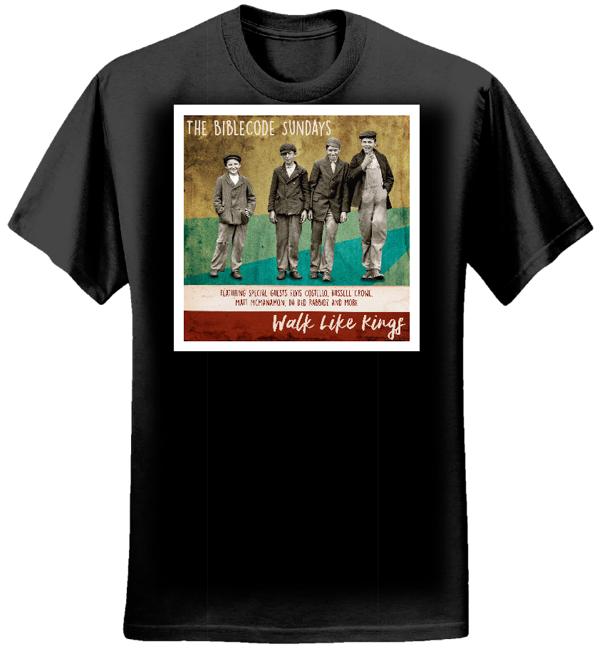 Walk Like Kings album cover tee lady fit - black - BibleCode Sundays