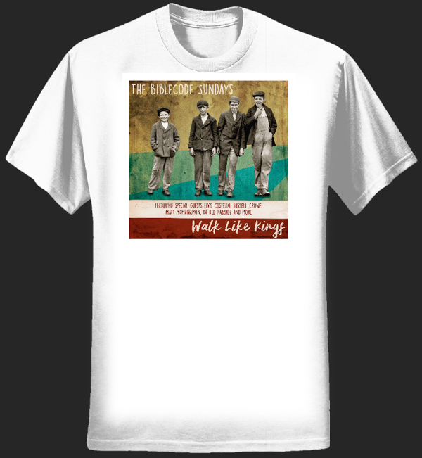 Walk Like Kings album cover tee lady fit - white - BibleCode Sundays