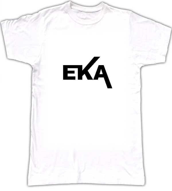 E-K-A T shirt Black logo - Biggroove Records