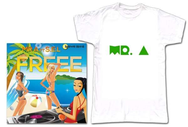 Mr A T shirt and Freee MP3 - Biggroove Records